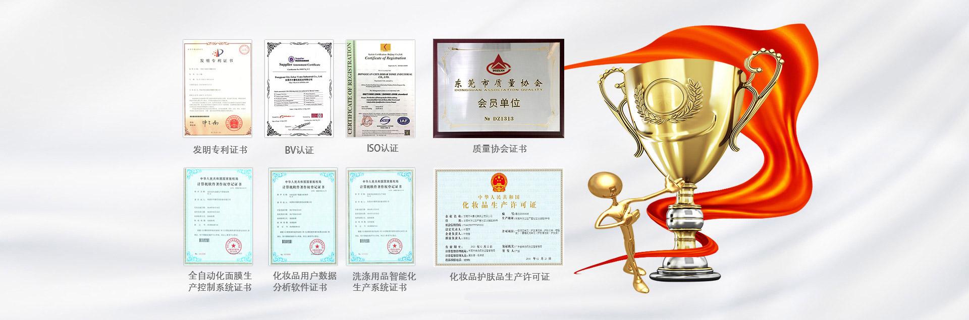 中豪荣誉证书
